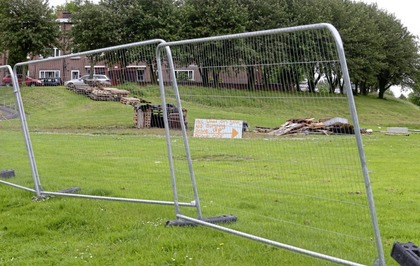 Council erects metal fencing around Belfast bonfire to 'minimise fly-tipping'