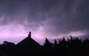 Amazing slow-motion videos show dramatic scope of East Sussex lightning storm