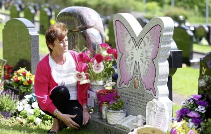 Young west Belfast mum's family told to remove headstone