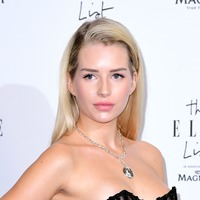 Lottie Moss turns heads at Elle party