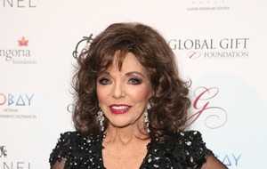 Dame Joan Collins dazzles at V&A party