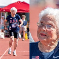 103-year-old Louisiana runner becomes oldest woman to compete on American track