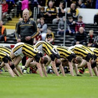 Pic of the day - On Your Marks: Kilkenny hurlers limber up before their recent clash of the ash with Galway