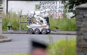 Bomb found during security alert on outskirts of west Belfast
