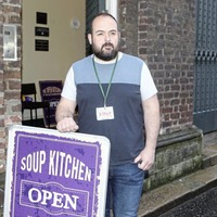 Mums with babies in prams queuing up at Belfast soup kitchen