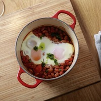 James Street Cookery School: Spiced beans with eggs, vegan chocolate brownie