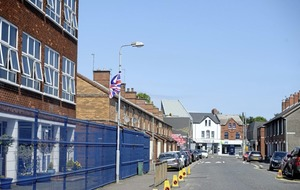 Union flag placed outside Catholic primary school in east Belfast