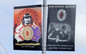 Calls for PSNI to remove new Wesley Somerville UVF tribute banner
