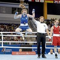 Michaela Walsh and Kurt Walker reach boxing semi-finals at European Games