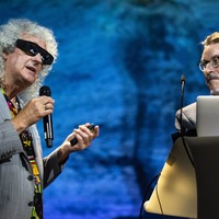 Brian May takes Buzz Aldrin down memory lane in 3D Space Race show