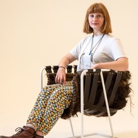 Design student creates hair-raising chair from barbers' off-cuts