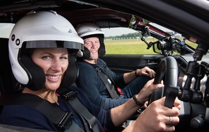 Zara Tindall spins out of control on Top Gear race track
