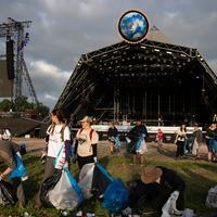 Army of workers and volunteers begins Glastonbury Festival clean-up