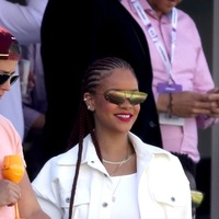 Rihanna watches the cricket in County Durham