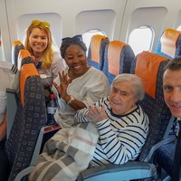 95-year-old woman's dream comes true as she takes first flight