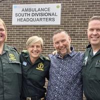 Heart attack survivor hails paramedic 'heroes' at emotional reunion