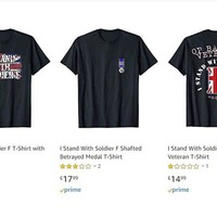 Soldier F T-shirts being sold on Amazon