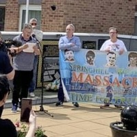 Plaque unveiled in west Belfast for Springhill victims