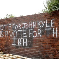 Bonfires: PUP slams anti-John Kyle 'vote for the IRA' graffiti