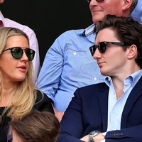 Ellie Goulding makes rare public appearance with fiance at Wimbledon