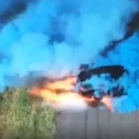 Watch the moment a gender reveal stunt goes dangerously wrong