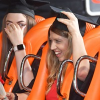 University holds graduation ceremony on Alton Towers rollercoaster