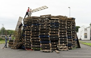 Belfast council will not remove bonfire from Avoniel Leisure Centre