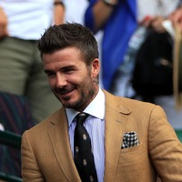 David Beckham has his eye on the ball with stylish attire at Wimbledon