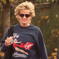 Unwashed sweatshirt worn by Princess Diana at gym sold at auction