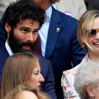 Poldark star Aidan Turner joins royalty at Wimbledon
