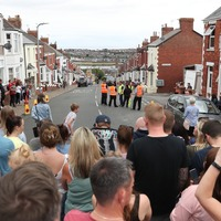 Crowds gathered to watch Gavin & Stacey being filmed