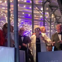Theresa May boogies to Dancing Queen at Henley Festival