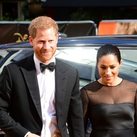 Harry and Meghan attend Lion King premiere