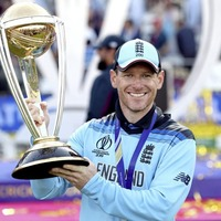 Dublin born Eoin Morgan has led England to cricket world cup glory