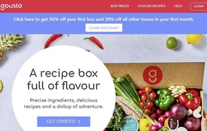 Recipe box firm Gousto secures £30m investment