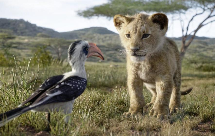 photorealistic lion king