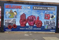 Shankill mural offers welcome in 20 languages – but not Irish