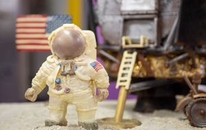 One giant treat for mankind: Moon landing recreated in chocolate