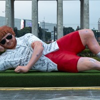Giant statue of Ed Sheeran appears in Moscow park