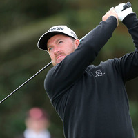 Graeme McDowell tees off at the Open