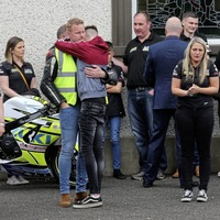 Casual clothes worn by mourners at Co Antrim funeral of road racer Darren Keys (34) at family request