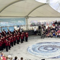 Loyalist flute band music was played in Portrush during the Open