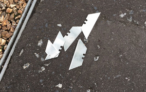 Razor blades left on cycle path could have caused 'serious injury'