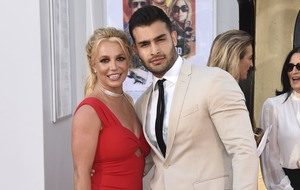 Britney Spears attends 'first premiere' with boyfriend Sam Asghari