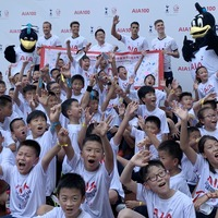 Tottenham trio Kane, Alli and Lamela take on 100 local children in Shanghai heat