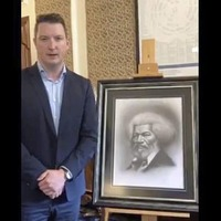 Belfast mayor unveils portrait of US abolitionist in city hall