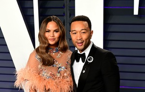 Chrissy Teigen films son's 'first real steps'