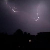 Dramatic footage as thunder and lightning storms hit parts of the UK