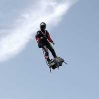 Inventor of jet-powered hoverboard could cross English Channel in 15 minutes