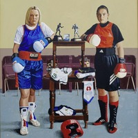 The story behind the famous portait of a teenage Katie Taylor and Alanna Audley